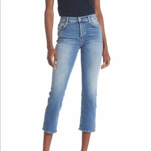 NWT 7 for all Mankind Edie Skinny Distressed Jean